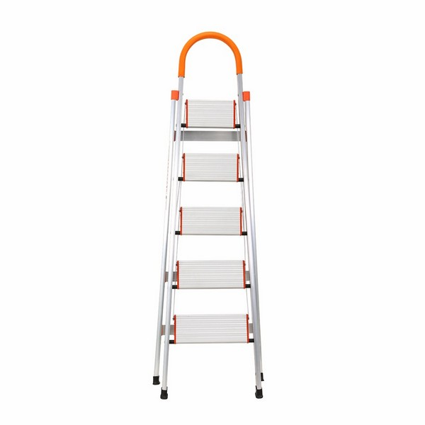 Peachy 5 Step Aluminum Ladder Folding Platform Stool Folding Hand Squirreltailoven Fun Painted Chair Ideas Images Squirreltailovenorg