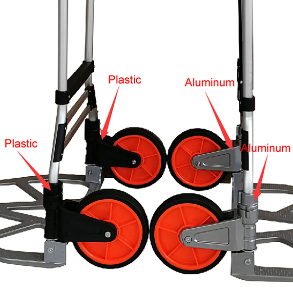 Aluminum tall heavy folding hand truck