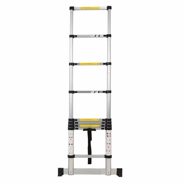 2.6m Aluminum Telescopic Ladder With Stabilize Bar