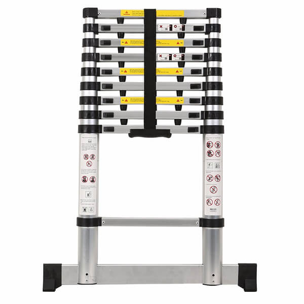 2.9m Aluminum Telescopic Ladder With Finger Gap And Stabilize Bar