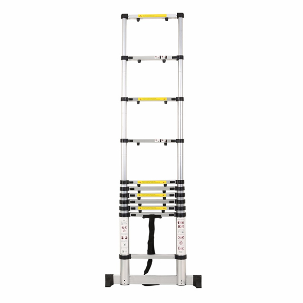 3.2m Aluminum Telescopic Ladder With Finger Gap And Stabilize Bar