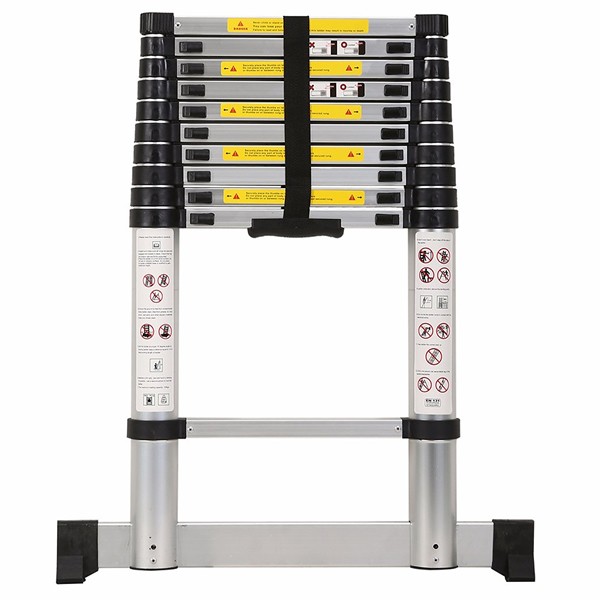 3.2m Aluminum Telescopic Ladder With Stabilize Bar