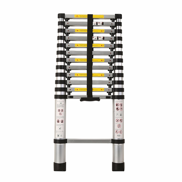3.8m Aluminum One Time Closed Telescopic Ladder With Finger Gap