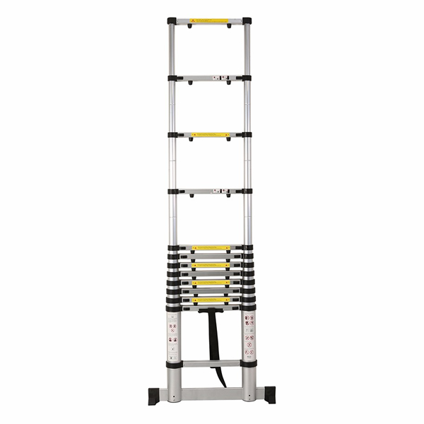 3.8m Aluminum Telescopic ladder With Finger Gap And Stabilize Bar