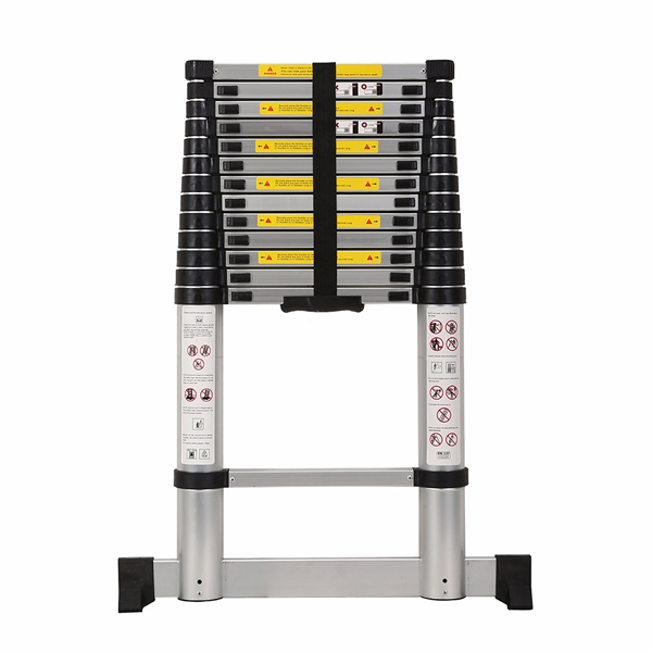 4.1m Aluminum Telescopic Ladder With Stabilize Bar