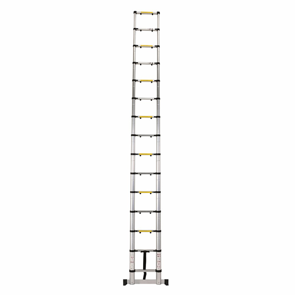 4.4m Aluminum Telescopic Ladder With Finger Gap And Stabilize Bar