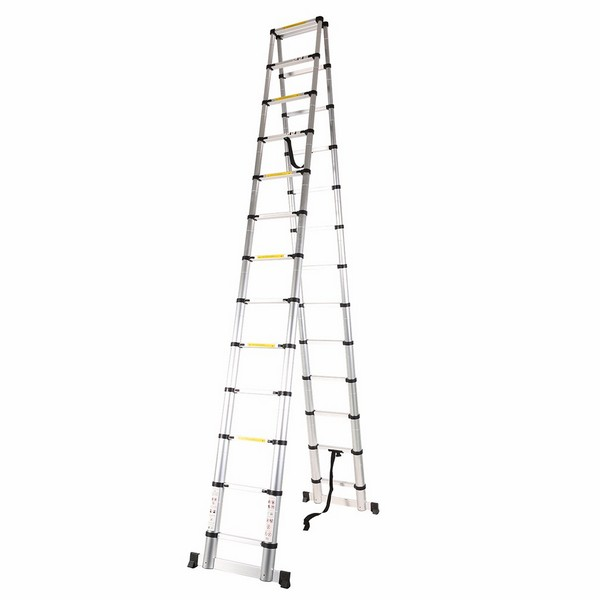3.8m+3.8m Telescopic Combination Ladder