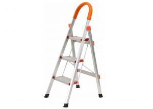 3 Step Aluminum Ladder Folding Platform Stool