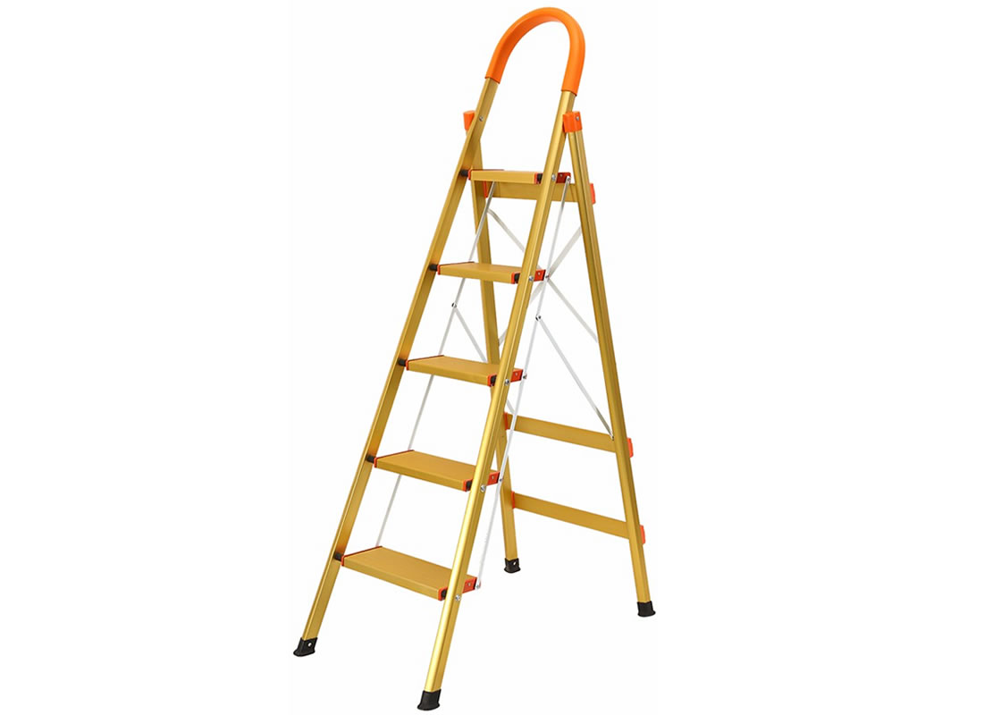 JHM0305K 5 Step Aluminum Ladder Folding Platform Stool