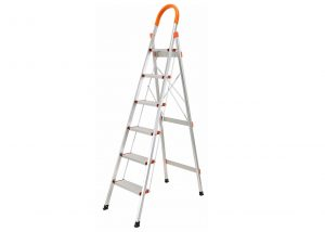 6 Step Aluminum Ladder Folding Platform Stool