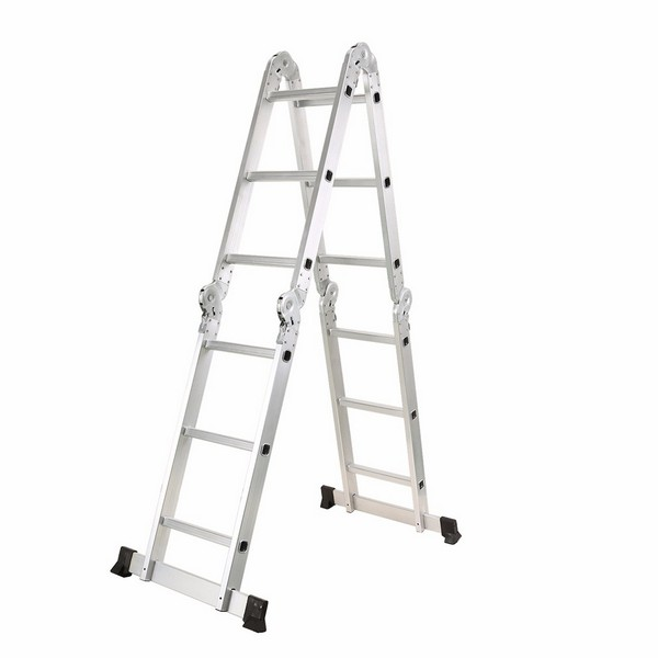 4X3 Aluminum multi purpose folding ladder (Small Hinge)