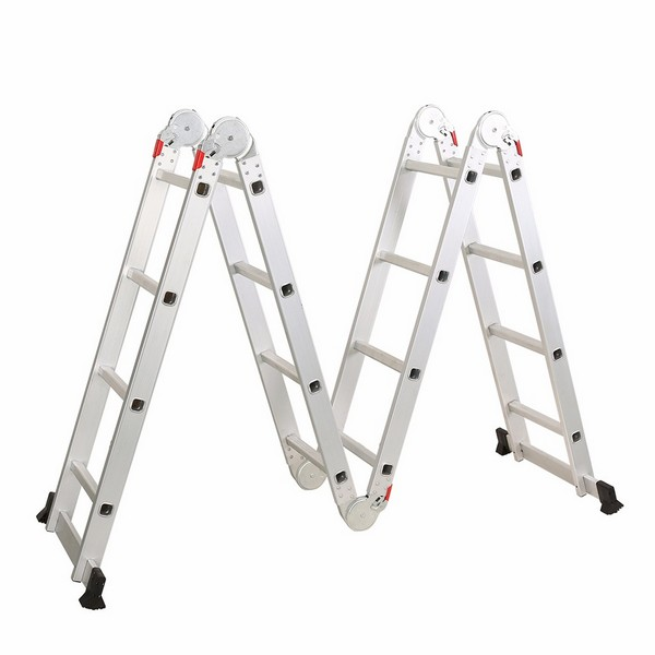 4X4 Aluminum multi purpose folding ladder (Big Hinge)