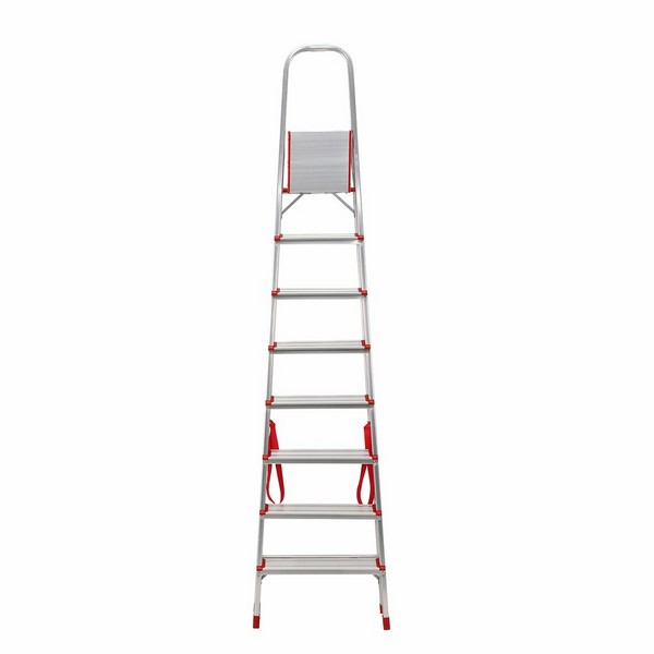 Aluminium Foldable Step Ladder 8 tread