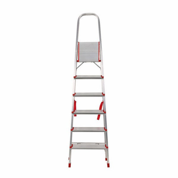 Aluminium Foldable Step Ladder 6 tread