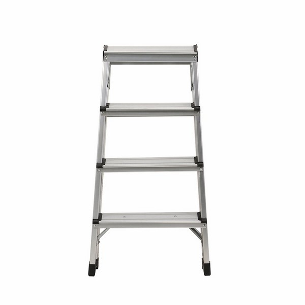 Aluminum double sided ladder 4 steps