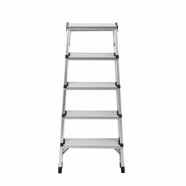 Aluminum double sided ladder 5 steps