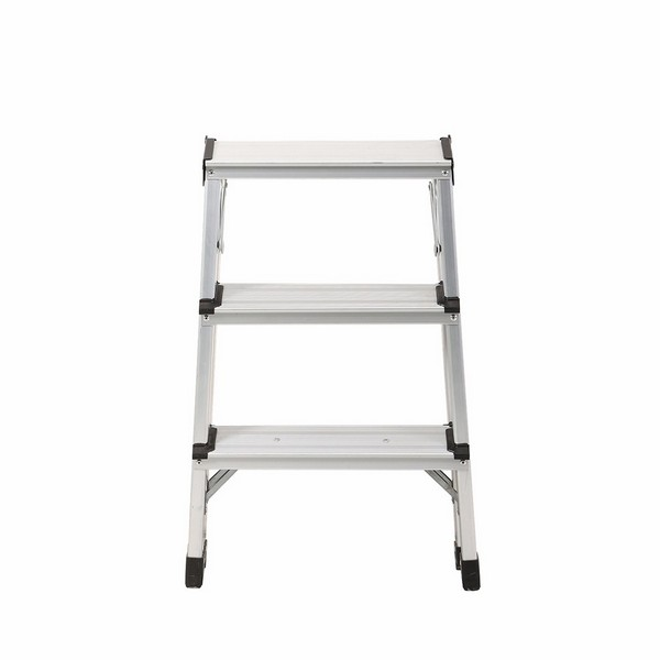 Aluminum double sided ladder 3 steps