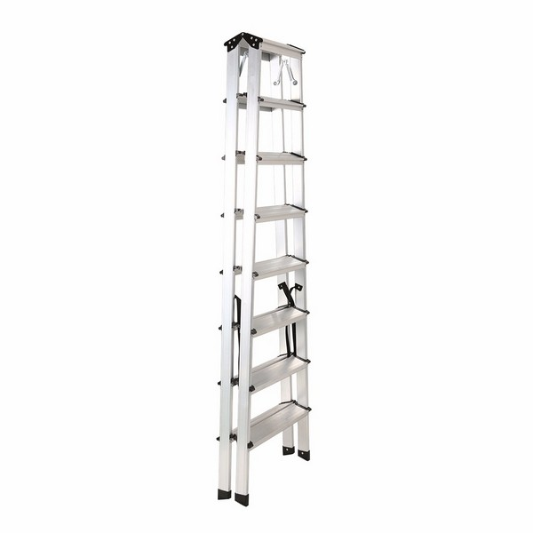Aluminum double sided ladder 8 steps