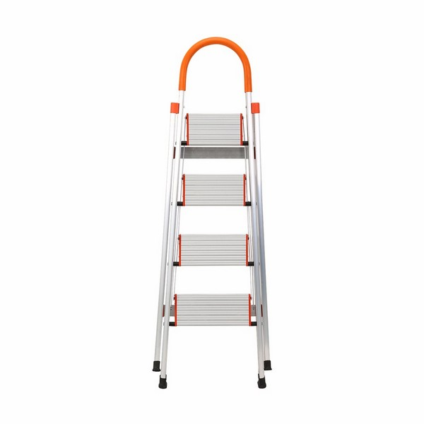4 Step Aluminum Ladder Folding Platform Stool