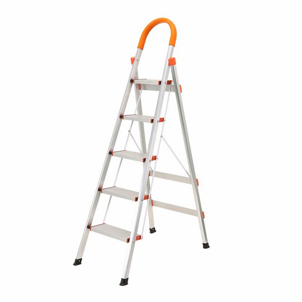 5 Step Aluminum Ladder Folding Platform Stool