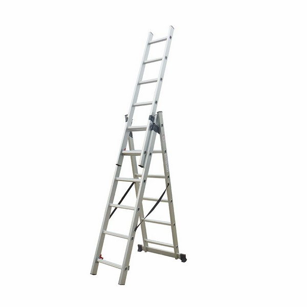 3-Section Extension Ladder 3×6 rungs