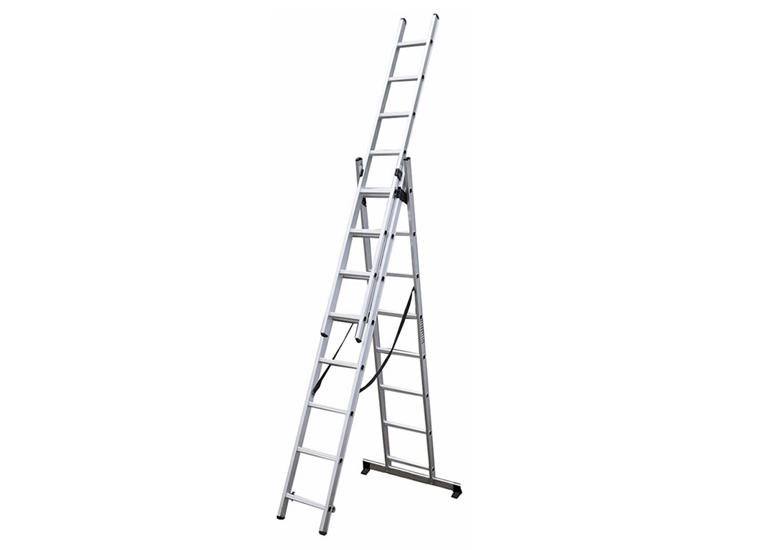 3-Section Extension Ladder 3×8 rungs