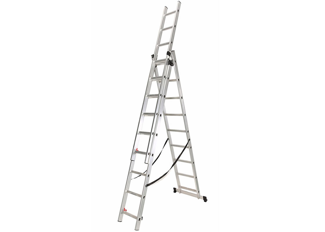 3-Section Extension Ladder  3×9 rungs