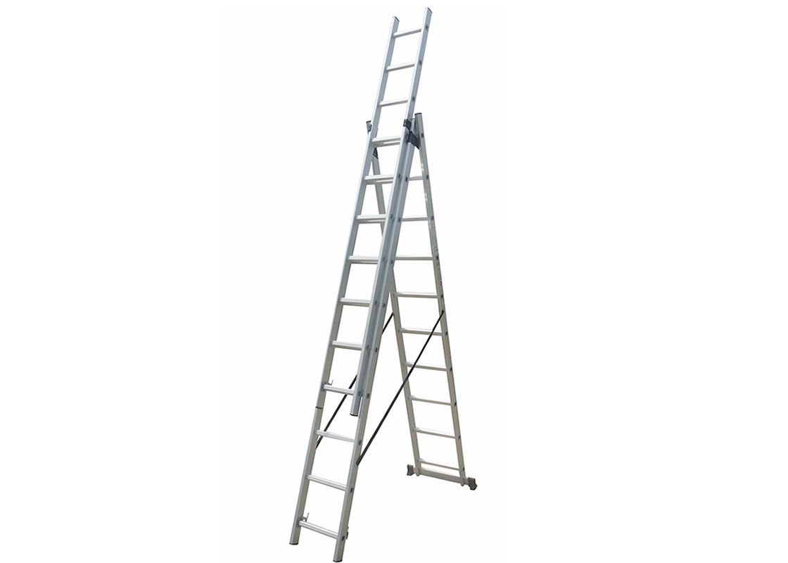 3-Section Extension Ladder 3×10 rungs