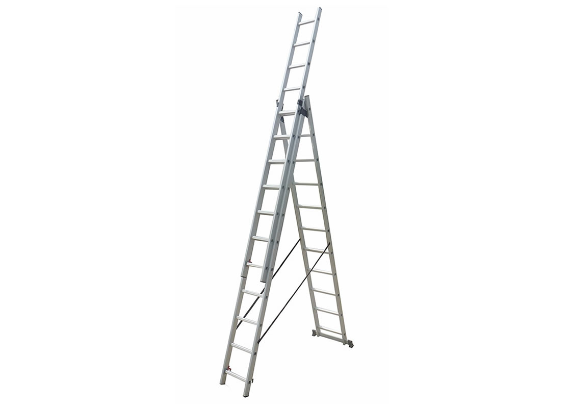 3-Section Extension Ladder 3×11 rungs