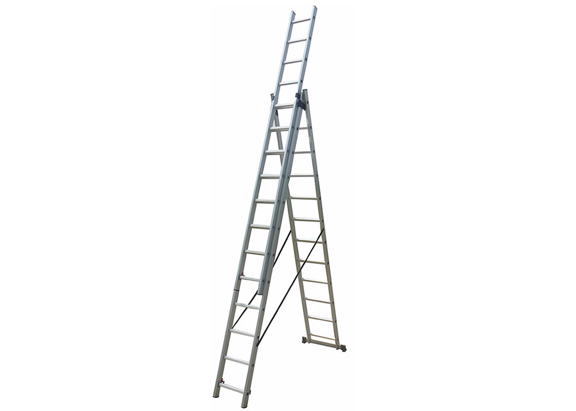 3-Section Extension Ladder 3×12 rungs