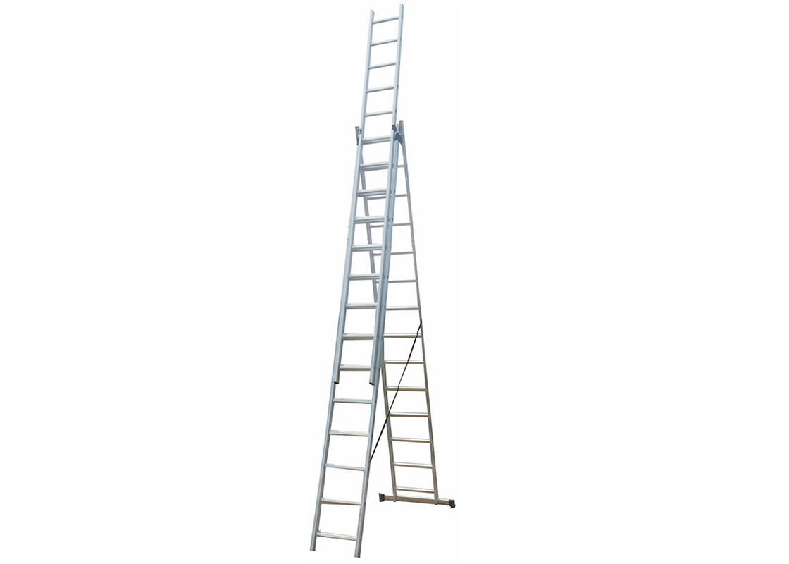 3-Section Extension Ladder  3×14 rungs