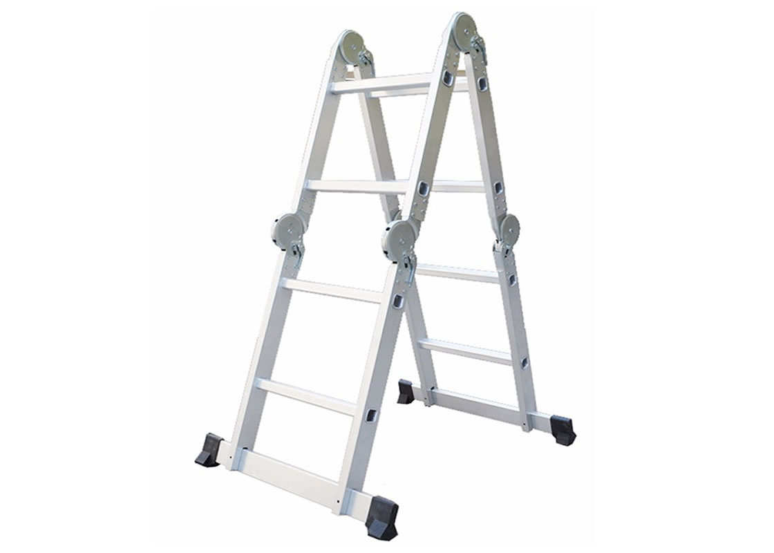 4X2 Aluminum multi purpose folding ladder (Big Hinge)