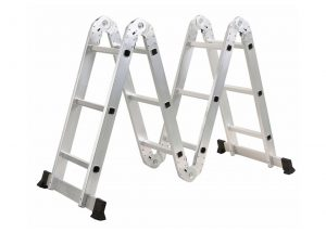 4*3 Aluminum multi purpose folding ladder (Small Hinge)