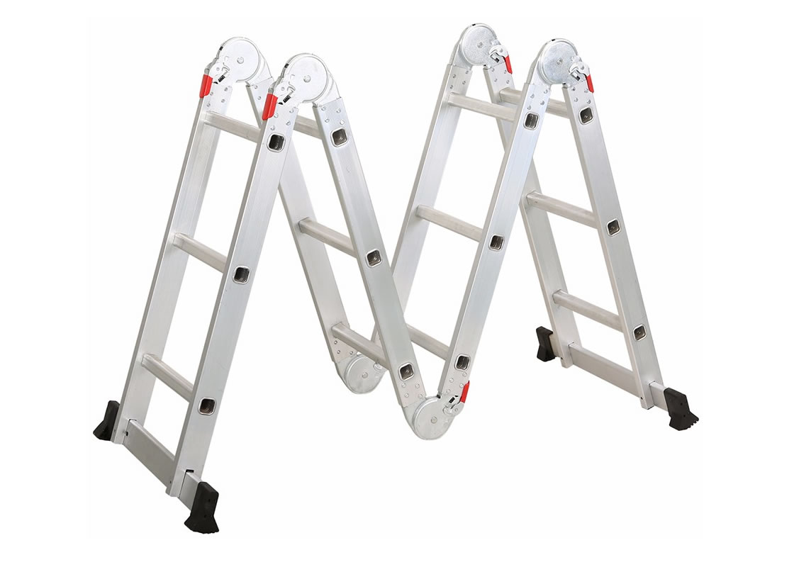 4X3 Aluminum multi purpose folding ladder (Big Hinge)