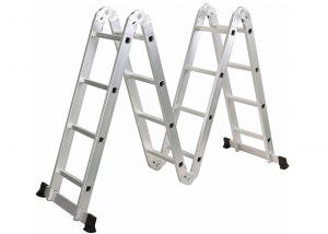 4*4 Aluminum multi purpose folding ladder (Small Hinge)