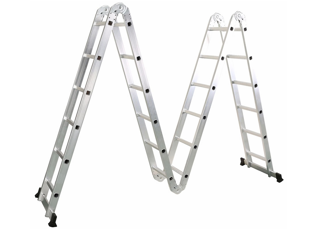 4X6 Aluminum multi purpose folding ladder  (Small Hinge)