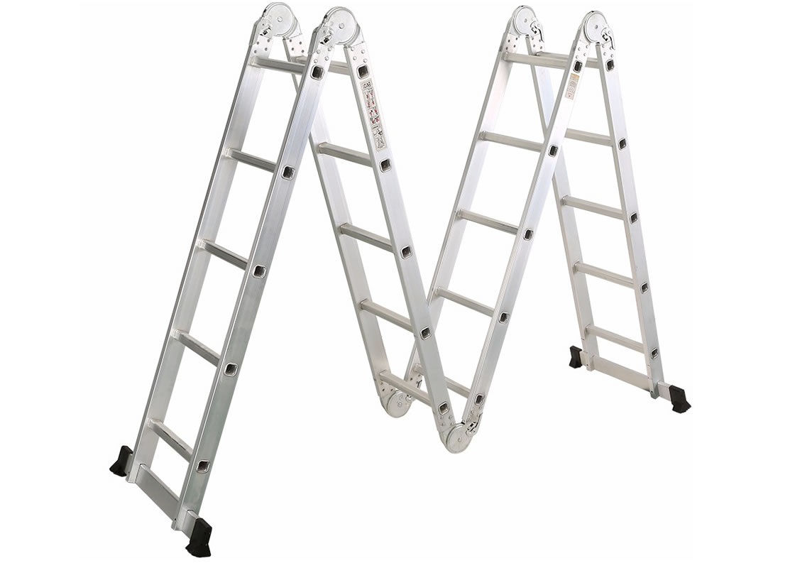 4X6 Aluminum multi purpose folding ladder  (Big Hinge)