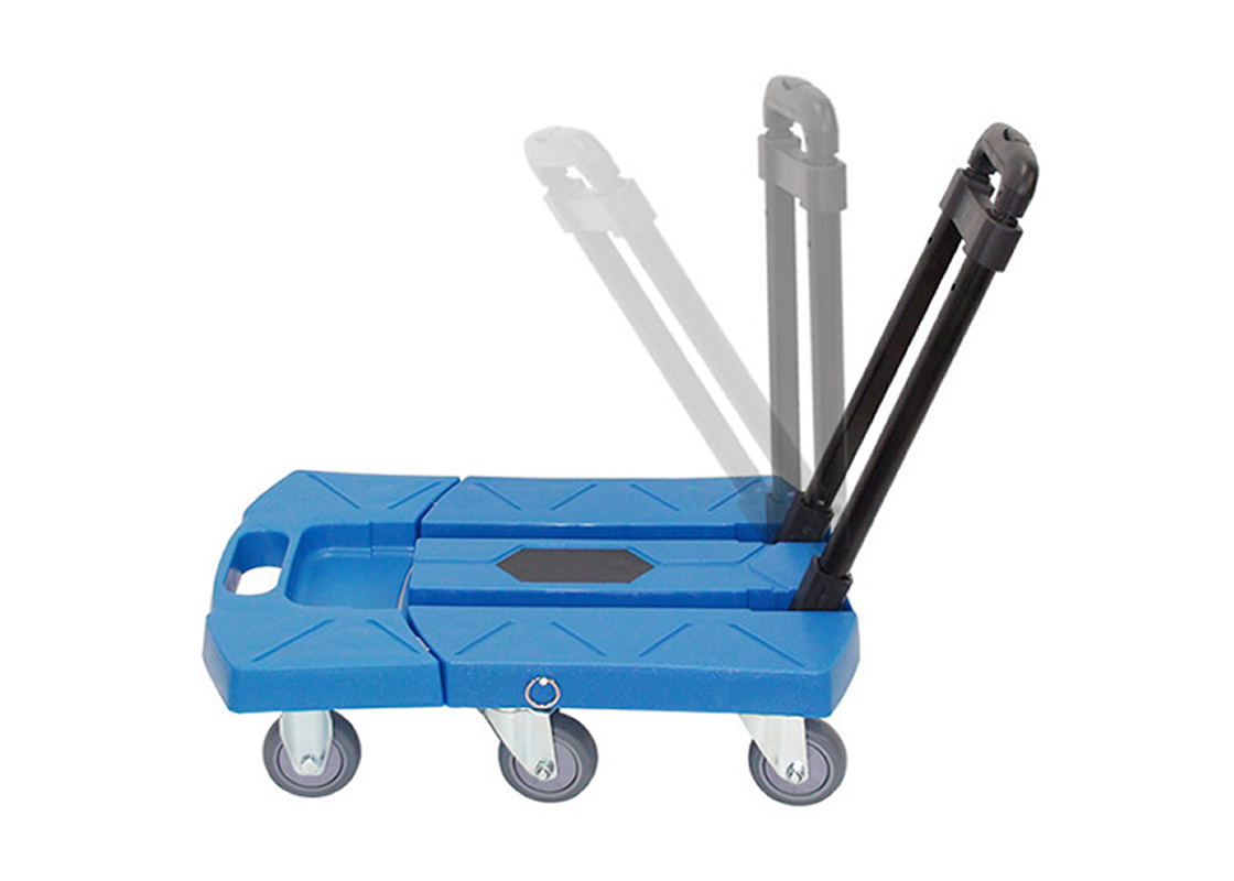 Folding Luggage Cart Portable Hand Truck 660lbs 360° Rotate Wheel