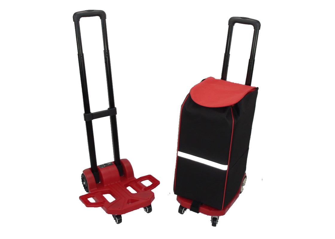Adjustable Folding Push Truck Hand Collapsible Trolley Luggage Flatbed Cart