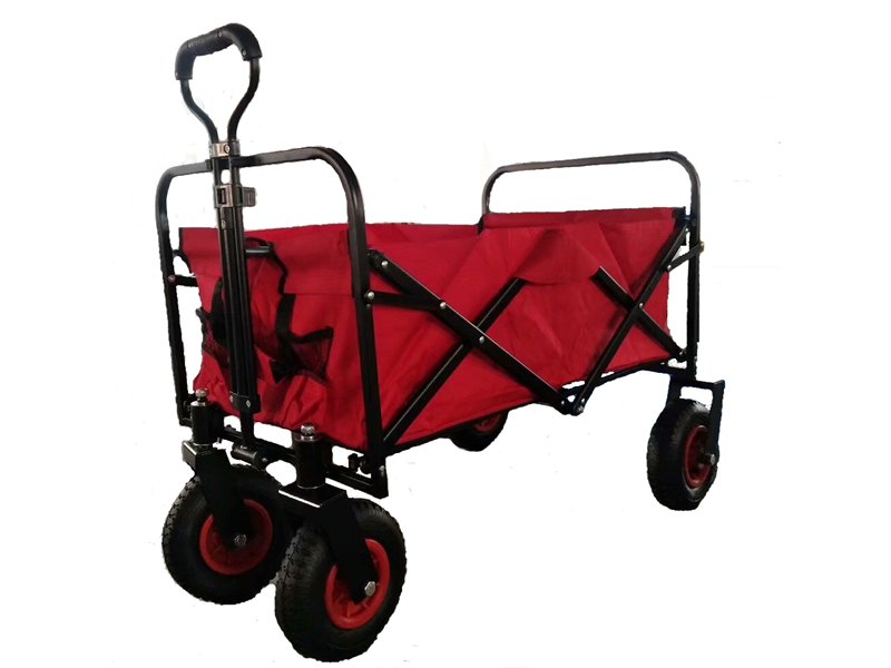 Folding Collapsible Sturdy Steel Frame Beach Wagon