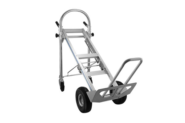 Heavy Duty 3-in-1 Aluminum Hand Truck Foldable Dolly Cart 550 lb Capacity